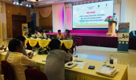 The seminar about enhancing production and use of unburnt construction materials in Quang Binh