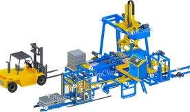 Máy xếp gạch không nung / Máy gắp gạch DmCline