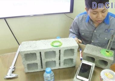Kiểm tra độ chống thấm của gạch không nung DmC