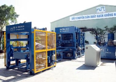 Máy gạch Full DmCLine10.2 DmC sản xuất Hệ thống tách dồn xếp tự động
