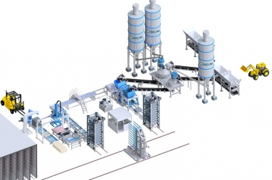 Dây chuyền sản xuất gạch không nung D15