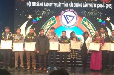 Dây chuyền gạch DmCline đạt giải tại cuộc thi sáng tạo khoa học kỹ thuật