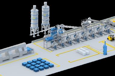 mặt bằng nhà máy sản xuất ngói xi măng màu