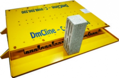 Concrete block mould with the height of 130mm