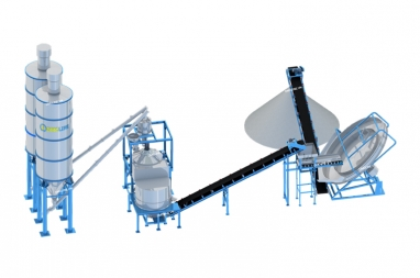 Mô hình máy vê viên tro bay bán tự động