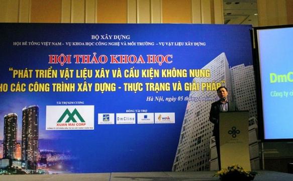 DmC tham dự hội thảo vật liệu xây không nung cho các công trình xây dựng tại HN