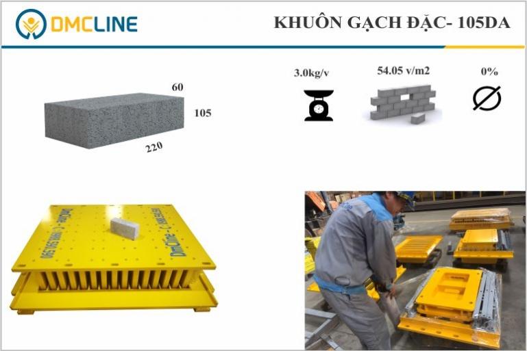 Gạch không nung xây chèn kích thước 220x105x60mm