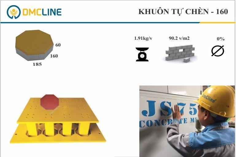 Khuôn gạch block tự chèn lục giác KT: 240x240x60mm