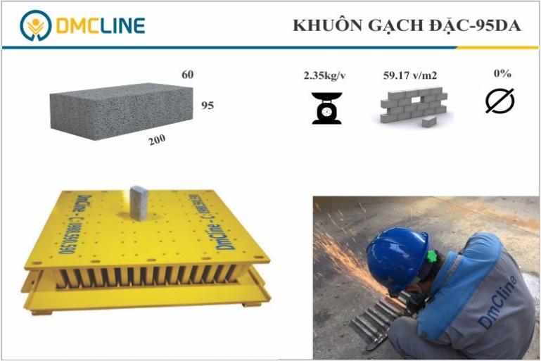 khuôn gạch xây kích thước 200x95x60mm