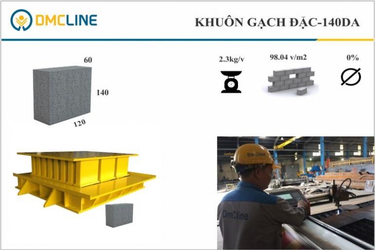 Kích thước gạch không nung xây chèn 60x140x120mm