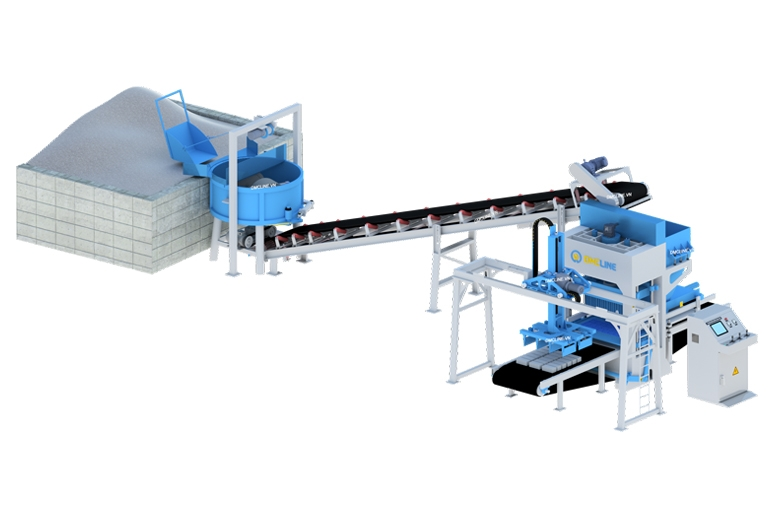 Mô hình sản xuất gạch tro bay