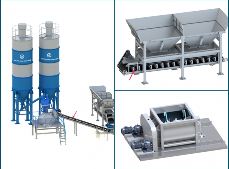 Part 3: Innovate batching system for concrete block production line – model 2020
