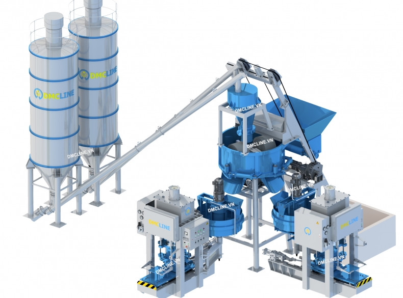 Cement tile making factory
